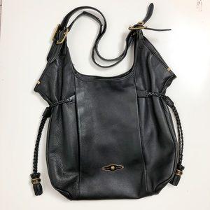 Elliott Lucca leather hobo bag